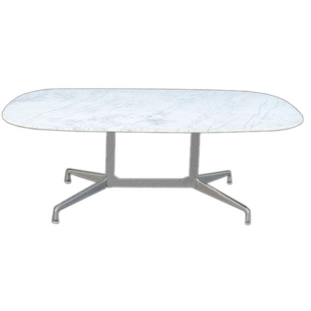 Eames For Herman Miller White Marble Dining Conference Table At