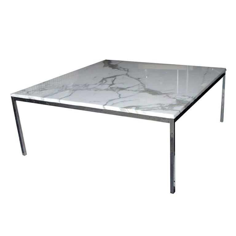 Florence knoll for knoll large marble and chrome coffee Florence knoll coffee table