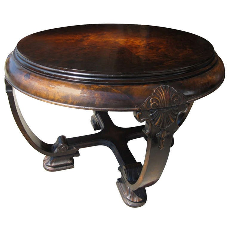 art deco round table for sale at 1stdibs. Black Bedroom Furniture Sets. Home Design Ideas