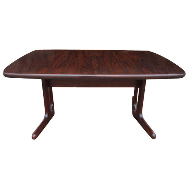 this dyrlund danish modern scandinavian rosewood dining table is no