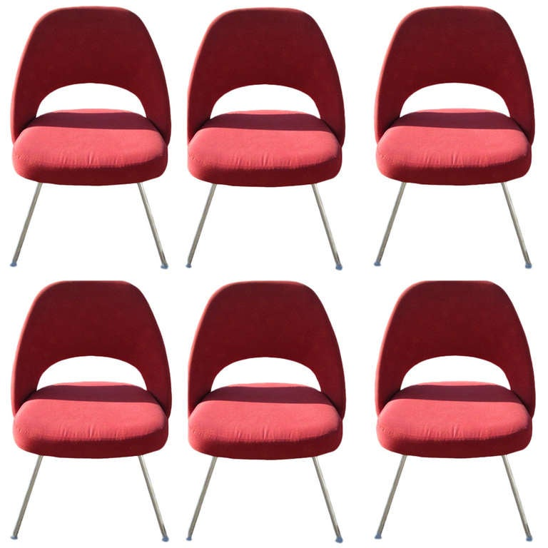 (6) Contemporary Knoll Eero Saarinen 72C-PC Dining Side Chairs For Sale