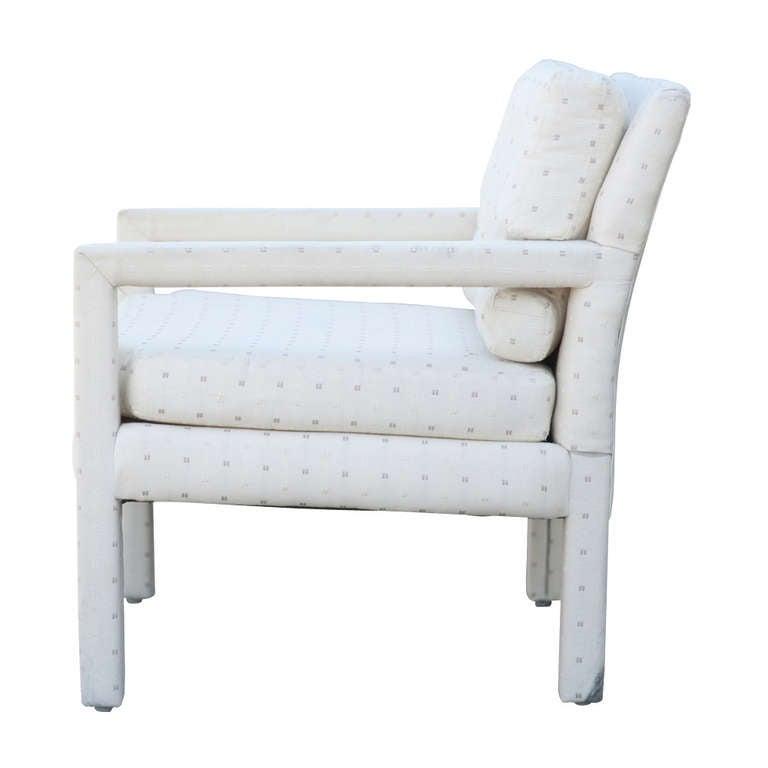 Mid-Century Modern Vintage Milo Baughman Parson Style Club Chair