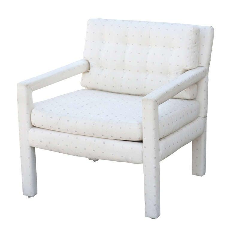American Vintage Milo Baughman Parson Style Club Chair
