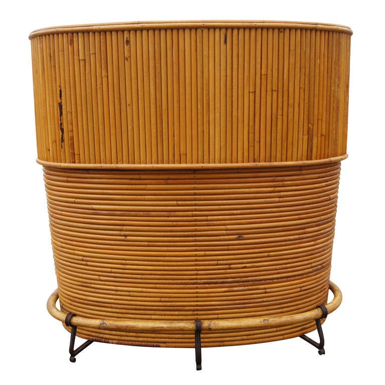 Vintage English Rattan Art Deco Cocktail Bar By J Birdekin For Sale At 1stdibs