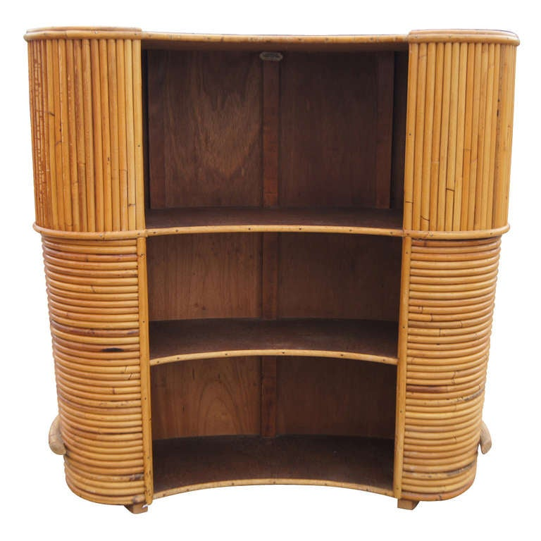 vintage english rattan art deco cocktail bar by j birdekin. Black Bedroom Furniture Sets. Home Design Ideas