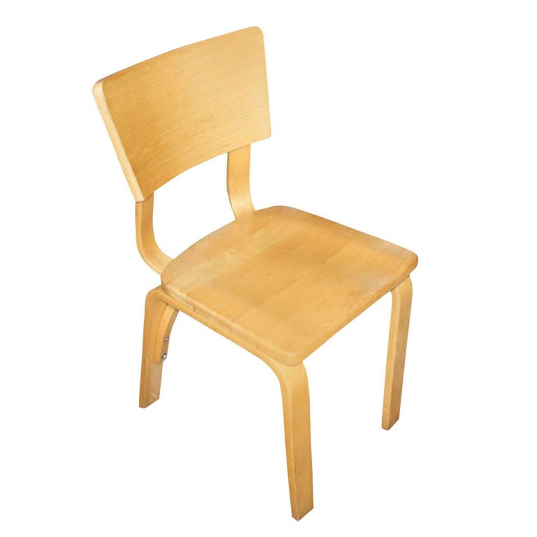 Eight thonet bentwood birch plywood dining chairs at 1stdibs
