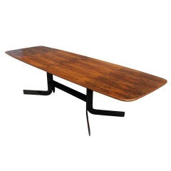 Exotic Large Rosewood Dining Conference Table