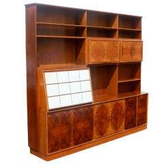 Vintage Mid Century Globe Wernicke Barrister Wood Bookcase