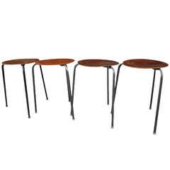 Set of Four Mid Century Modern Nesting Tables / Tablettes by Tony Paul