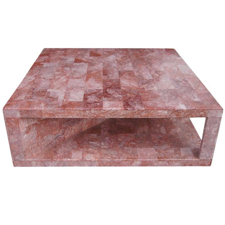 Vintage Rose Marble Coffee Table at 1stdibs
