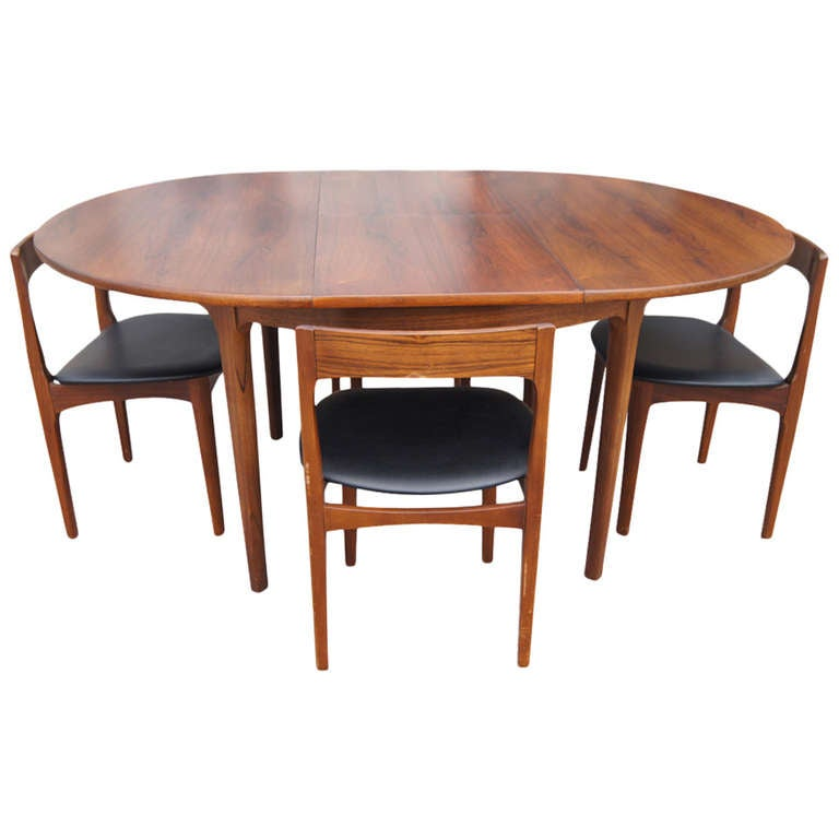 66 vintage expandable butterfly leaf dining table at 1stdibs for Old table modern chairs