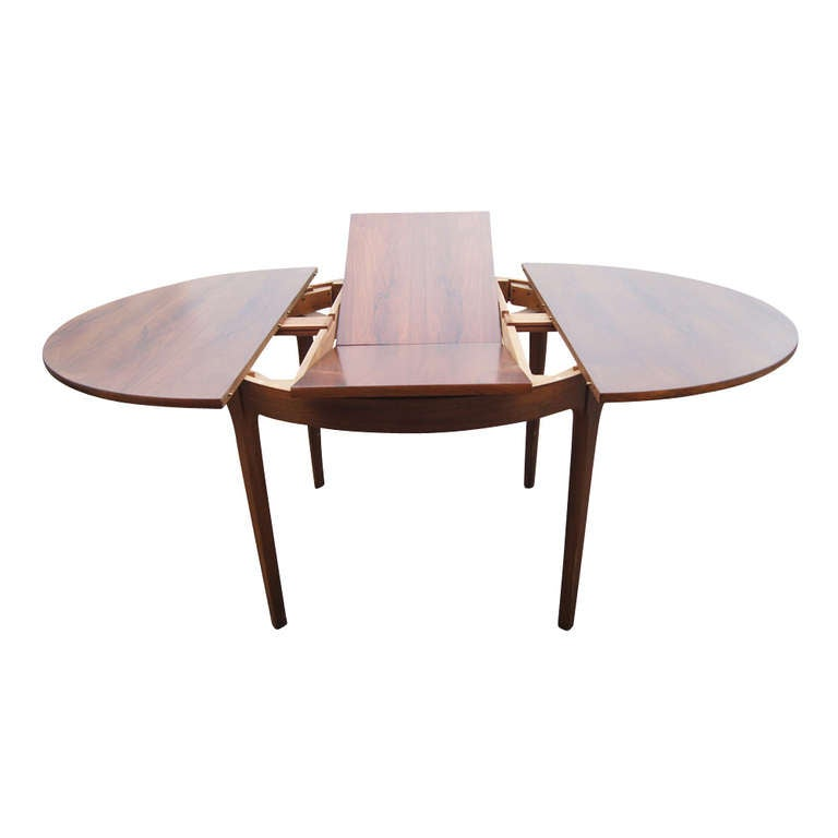 66 vintage expandable butterfly leaf dining table at 1stdibs