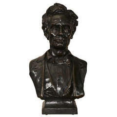 Bronze Bust of Abraham Lincoln by Max Bachmann
