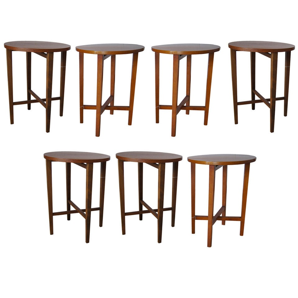 Vintage Side Tables / Night Stands with Folding Leaves