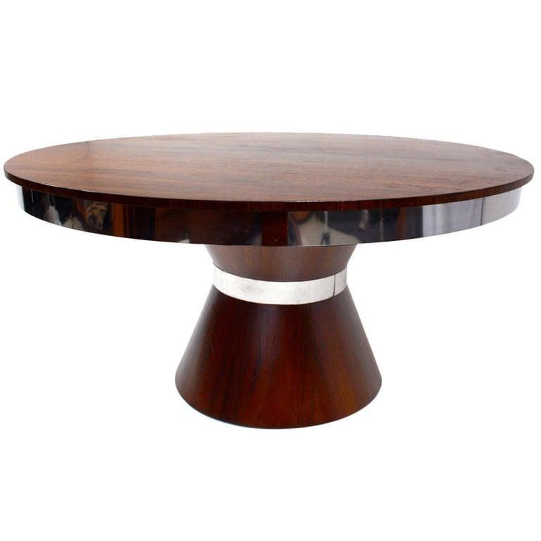 Custom mid century modern round dining table at 1stdibs for Modern round dining table for 6