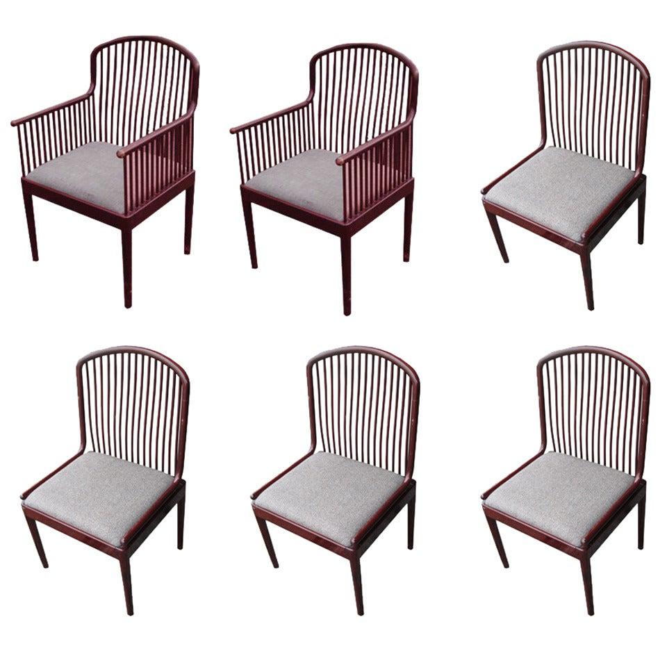 Set Of Six Vintage Davis Allen Chairs For Stendig 1