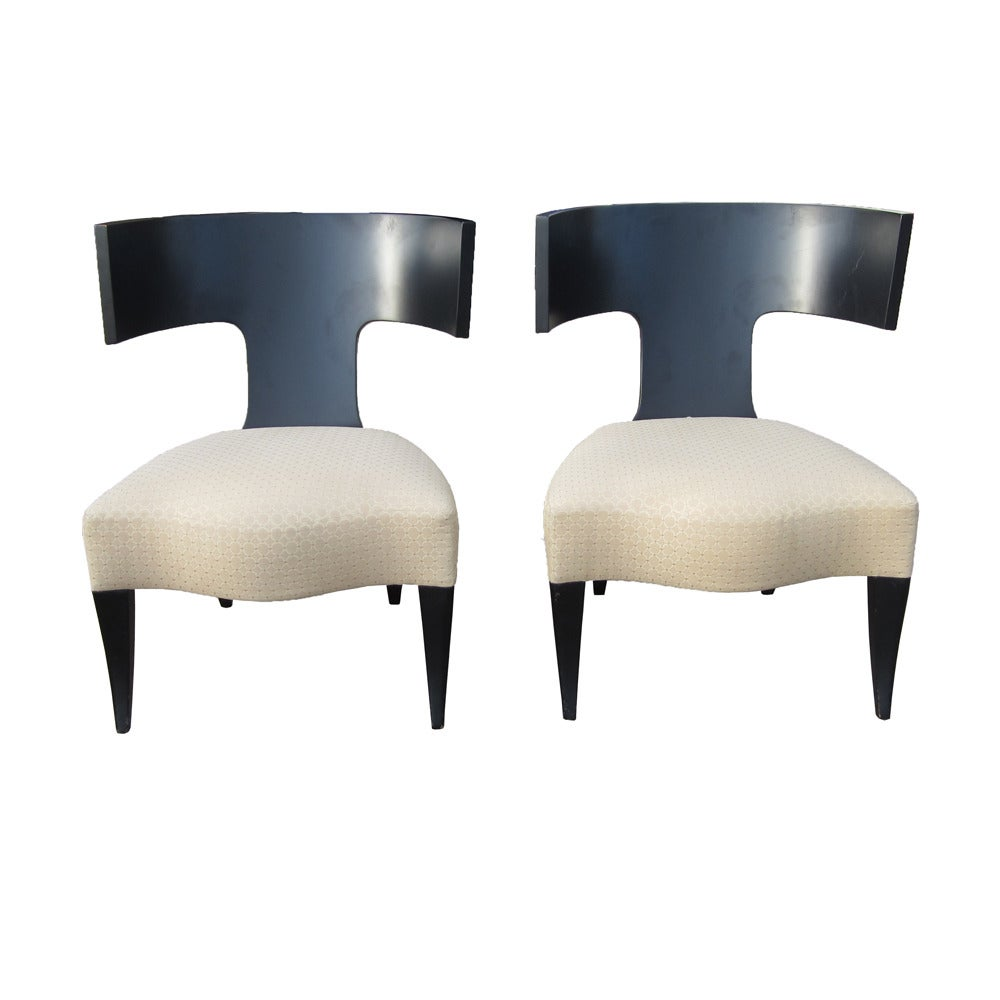 Attractive Pair Of Klismos Dining Chairs Made By Donghia 2