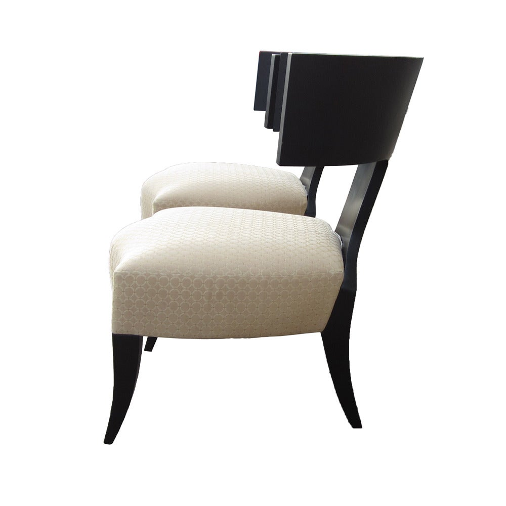 Pair of klismos dining chairs made by donghia for sale at for Made dining chairs