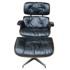 Rare Early Eames For Herman Miller Lounge Chair And Ottoman