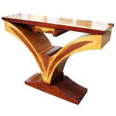 Art Deco Style Sunburst Console Table