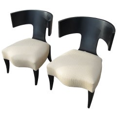 Pair of Klismos Chairs Made by Donghia