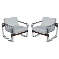 Vintage Heinz Meier Stendig Hausmann Lounge Chairs