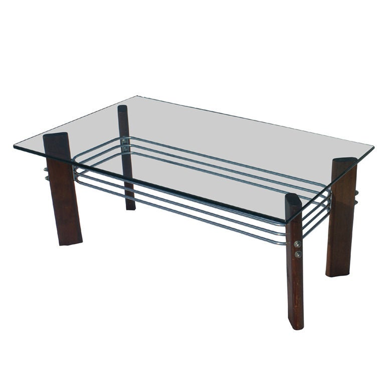 Https Www 1stdibs Com Furniture Tables Coffee Tables Cocktail Tables Stendig Chrome Wood Glass Coffee Table Id F 458649