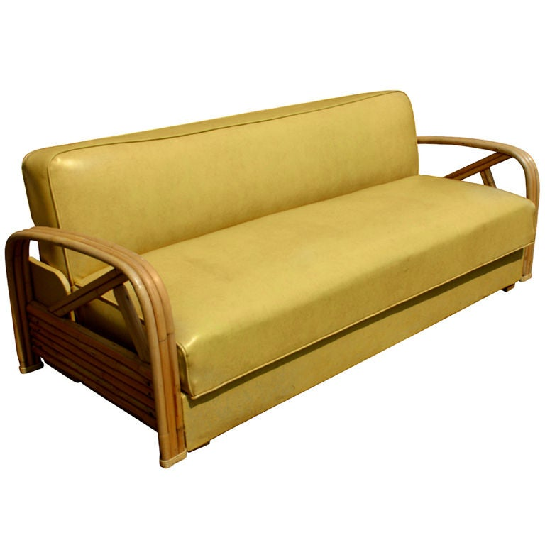 Paul Frankl Sofa ~ Paul frankl style tropitan bamboo sofa and daybed at stdibs