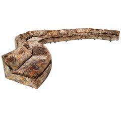 Milo Baughman Thayer Coggin Sectional Serpentine Sofa