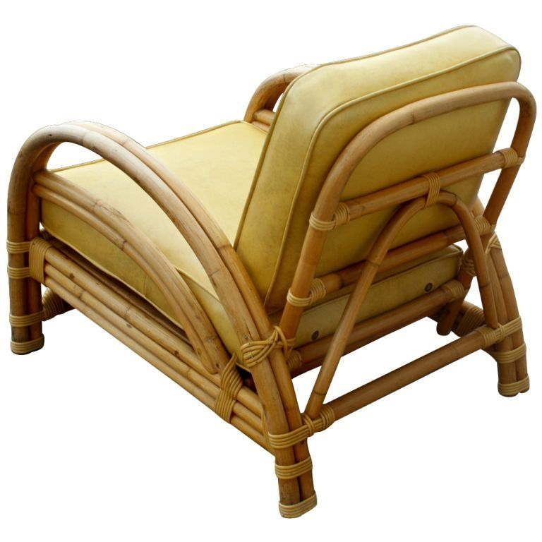 Vintage Paul Frankl Style Ritts Tropitan Rattan Lounge Chair At 1stdibs