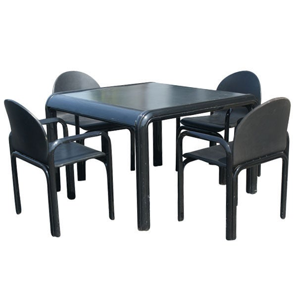 Gae Aulenti For Knoll Dining Table And Four Chairs 1