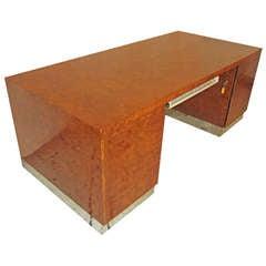 Eppinger Burled Wood Executive Desk