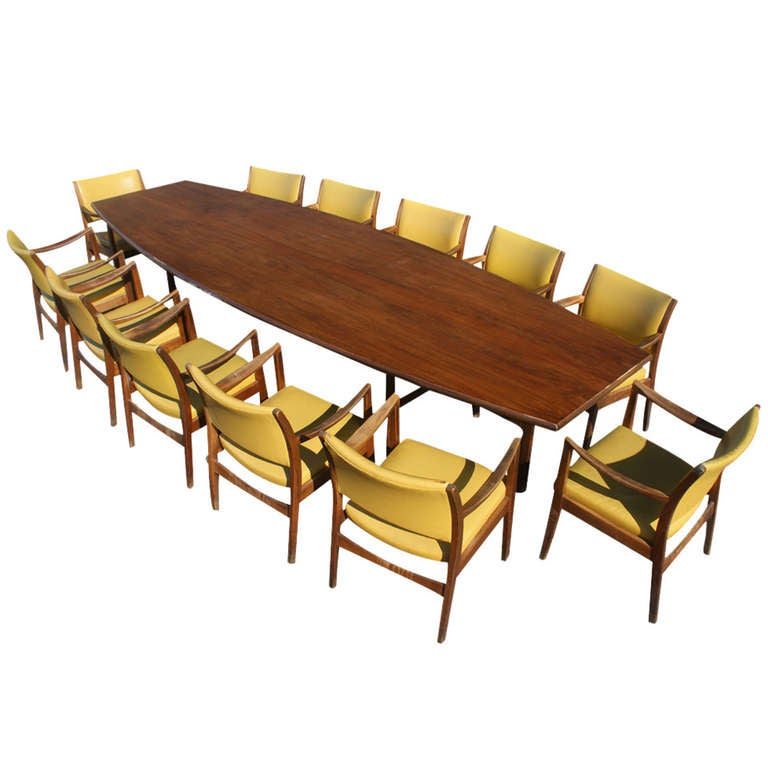 8 Vintage Walnut Johnson Chair Co Chicago Dining Chairs Set 1