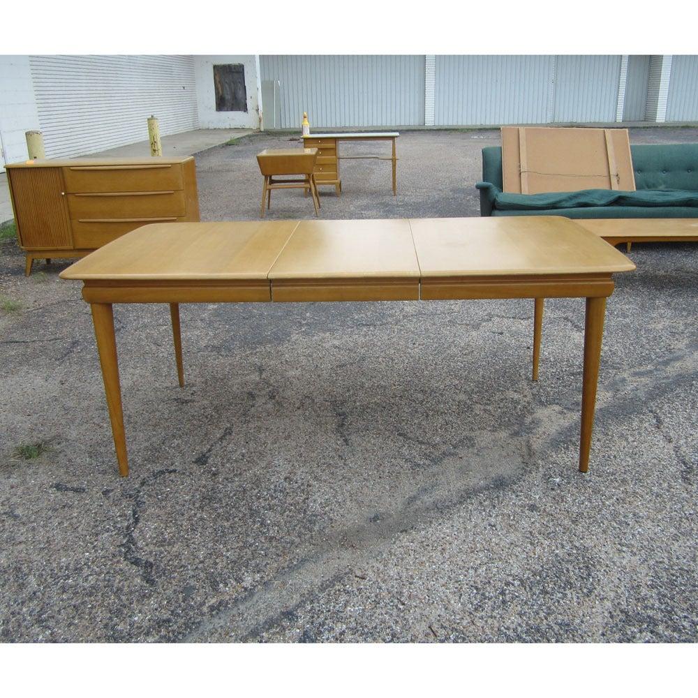 vintage heywood wakefield extension table m1558g at 1stdibs