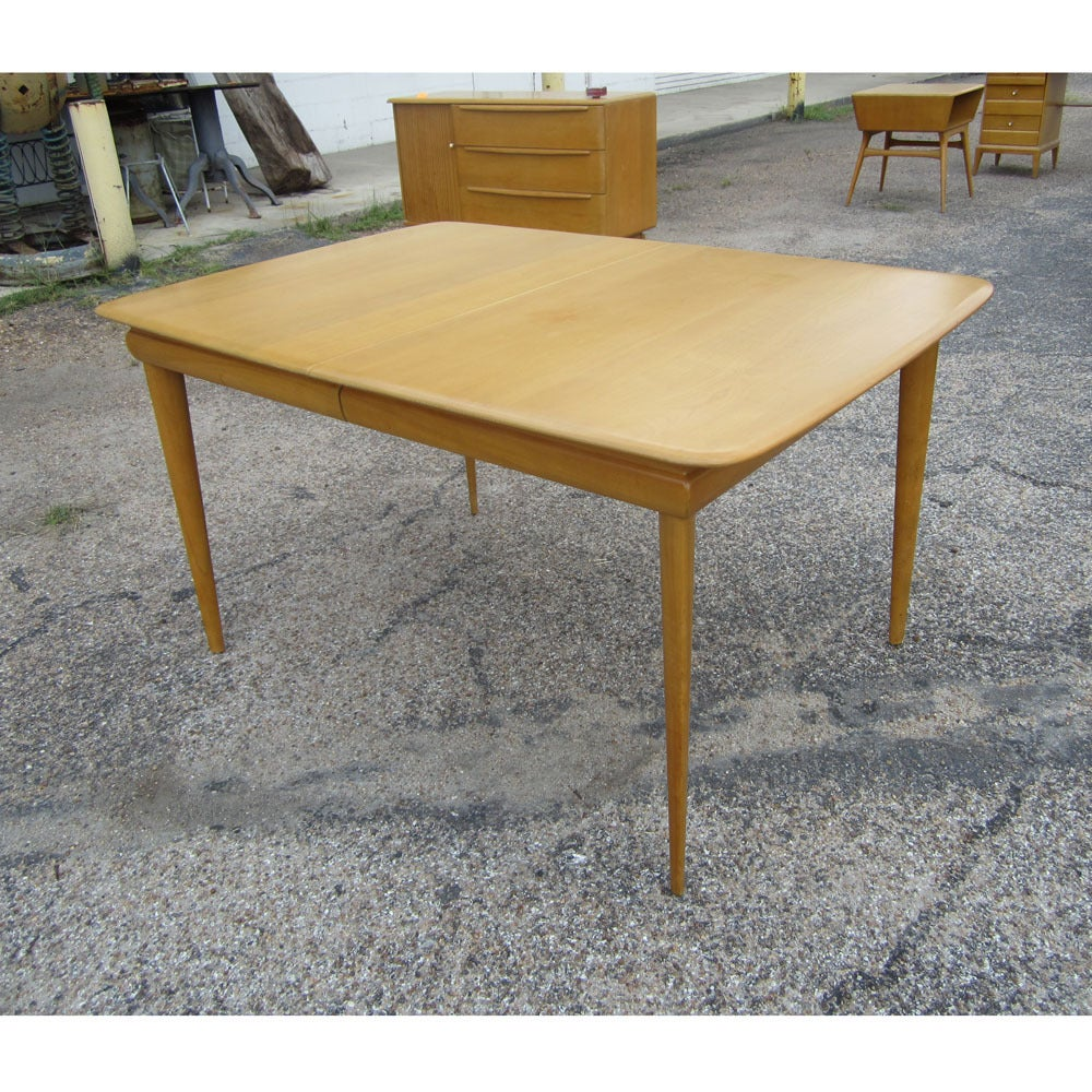 Vintage Heywood Wakefield Extension Table M1558G For Sale  : acx95heywakediningtable05 1 from www.1stdibs.com size 1000 x 1000 jpeg 260kB