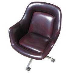 Vintage Oversized Leather Executive Chair by Max Pearson for Knoll
