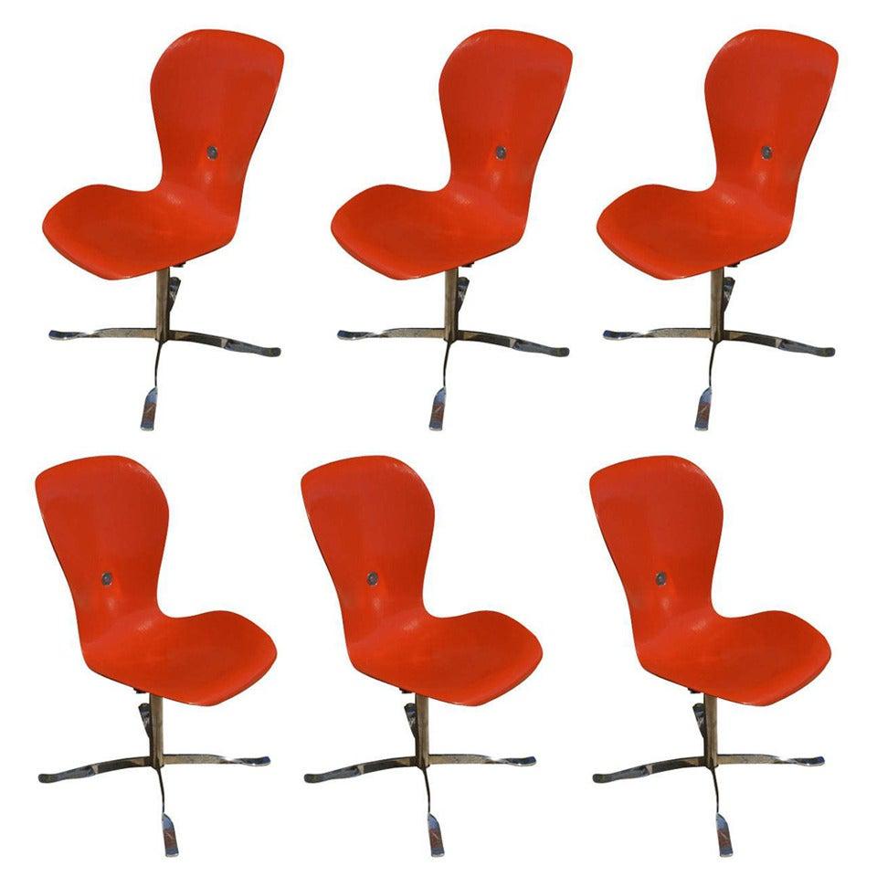 Set of Six American Desk Corporation Gideon Kramer Ion Chairs