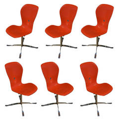 Set of Six American Desk Corporation Gideon Kramer Ion Chairs