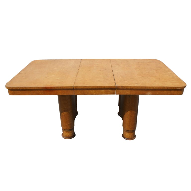 Art Deco Birdseye Maple Extension Dining Table For Sale At 1stdibs