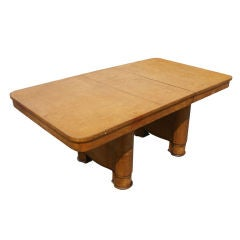 Art Deco Birdseye Maple Extension Dining Table