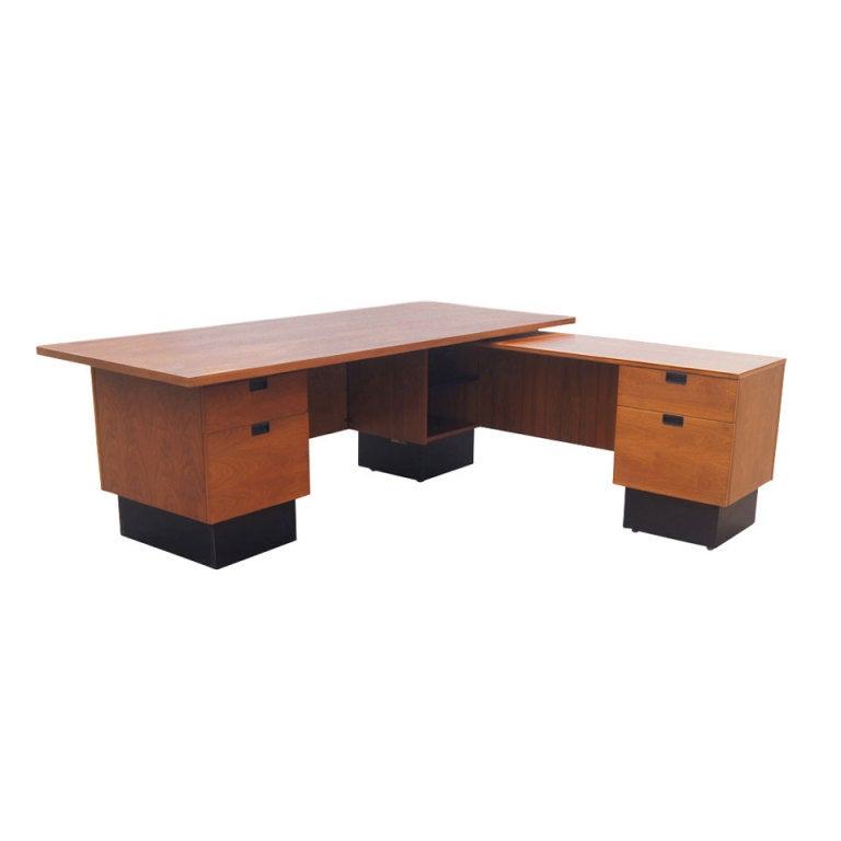 george nelson for herman miller l shaped desk at 1stdibs