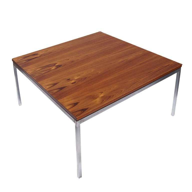 Florence Knoll For Knoll Square Coffee Table At 1stdibs