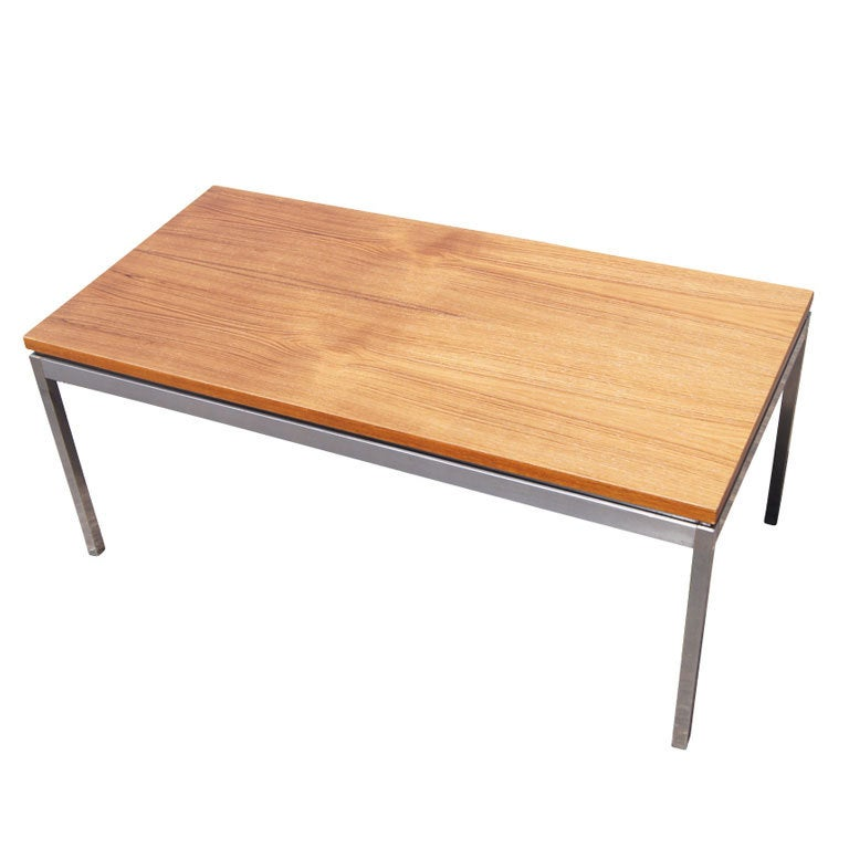 Florence knoll for knoll rectangular coffee table at 1stdibs Florence knoll coffee table