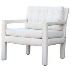 Vintage Milo Baughman Parson Style Club Chair