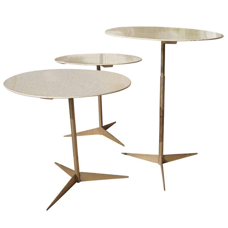 Tony paul occasional tables for thin line 1960 at 1stdibs for Thin side table