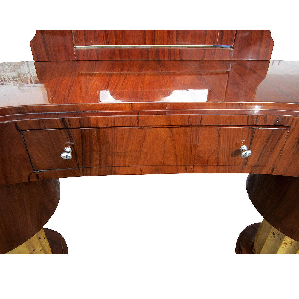 Art Deco Style Vanity w/ 5 Drawers and Adjustable Mirror In Good Condition In Pasadena, TX