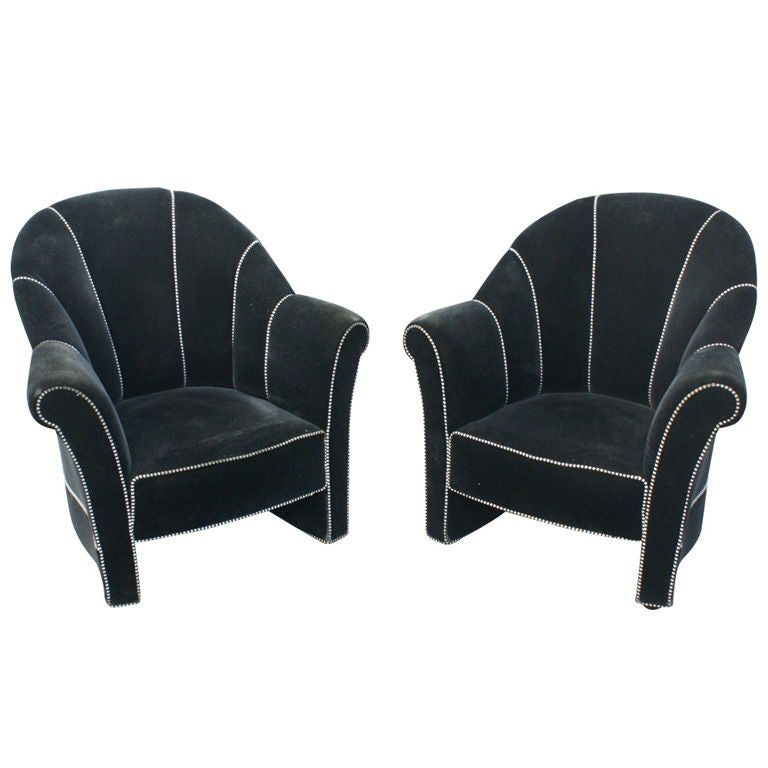 pair of josef hoffmann haus koller lounge chairs by. Black Bedroom Furniture Sets. Home Design Ideas