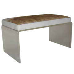 Acrylic And Cowhide Bench