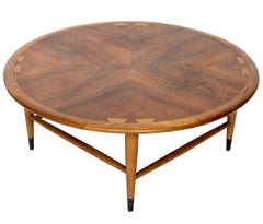 Vintage Andre Bus for Lane Acclaim Round Walnut Coffee Table
