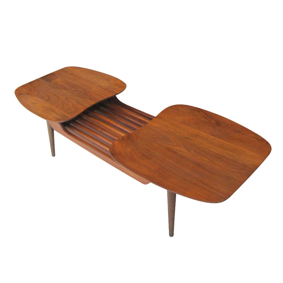 Danish Style Coffee Table: Vintage Danish Style Walnut Coffee Table By Ace High At